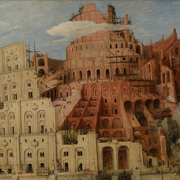 The insect of the Tower of Babel by Pieter Bruegel the Elder was ...