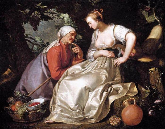 769px-Bloemaert,_Abraham_-_Vertumnus_and_Pomona_-_1620