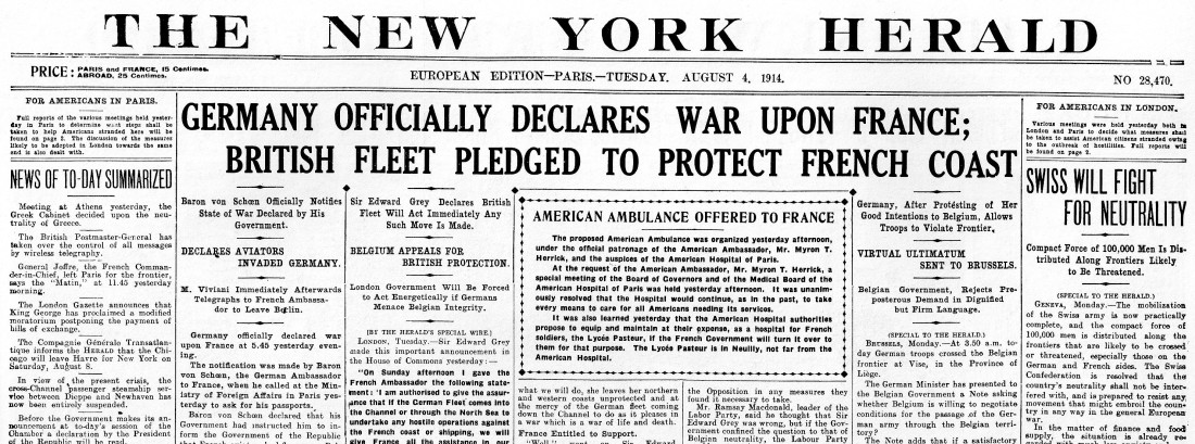 reasons for the declaration of war on germany by great britain in 1914 The austro-hungarian declaration of war on serbia 28 july 1914 4 august 1914 great britain declares war on germany wwi document archive 1914 documents.