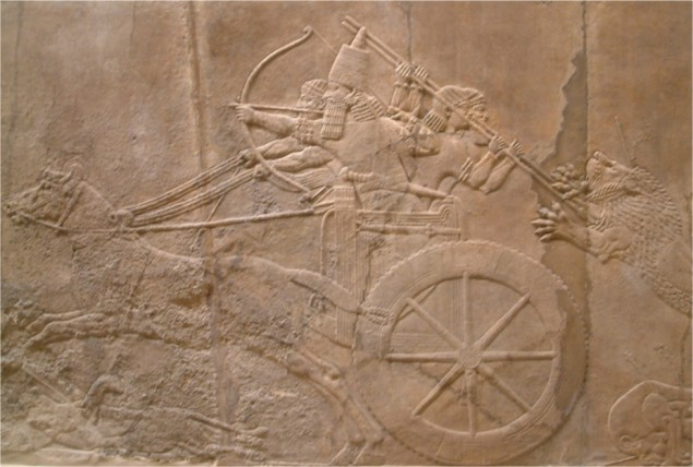 Nineveh_north_palace_king_hunting_lion