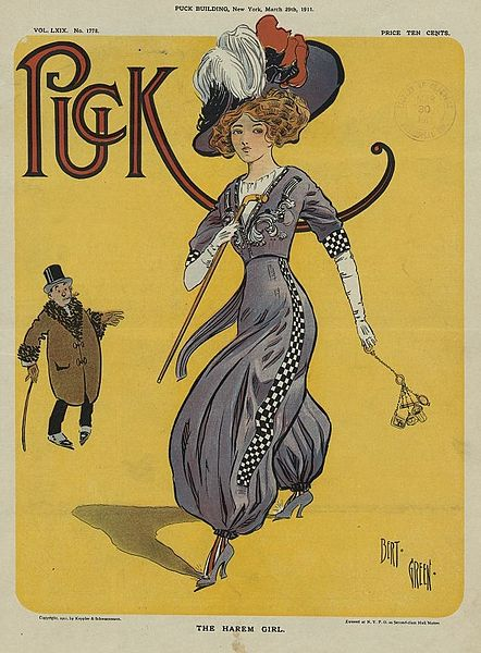 The_Harem_Girl_-_Bert_Green_for_Puck_magazine,_29_March_1911
