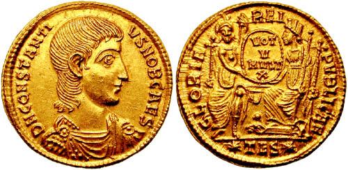 Solidus-Constantius_Gallus-thessalonica_RIC_149