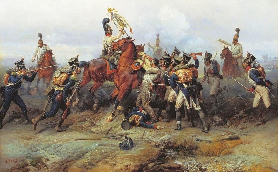 Willewalde_-_Czar's_Guard_capture_4th_line_regiment's_standard_at_Austerlitz 2