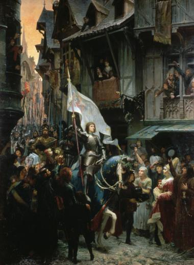 Jeanne_d'Arc,_victorieuse_des_anglais,_rentre_à_Orléans_et_est_acclamée_par_la_population_-_Jean_Jacques_Scherrer_1887