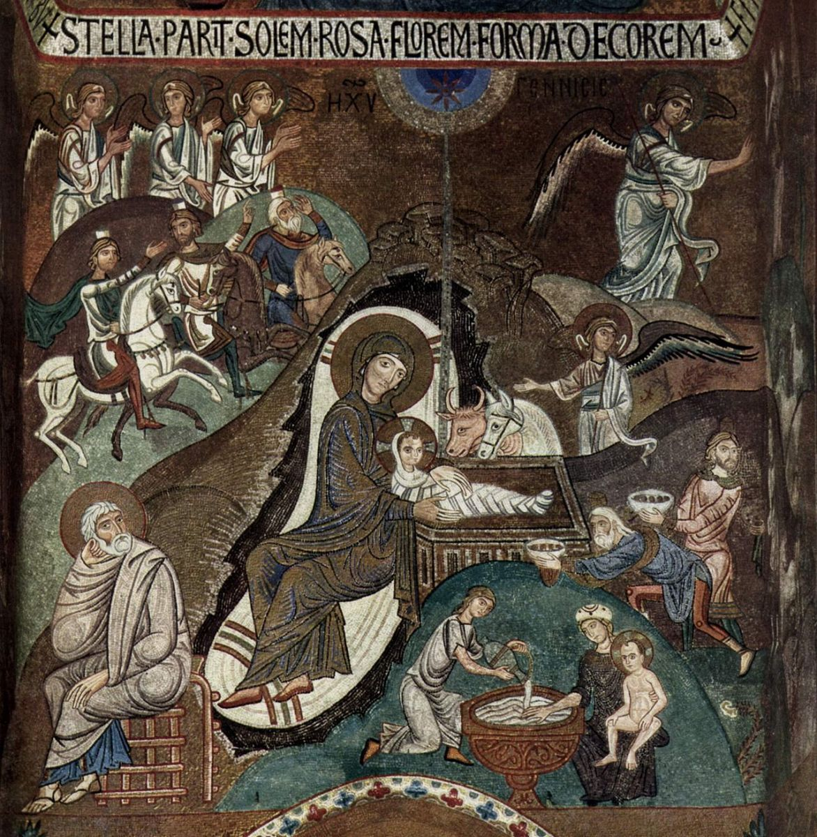 The Nativity of Jesus in Byzantine art.