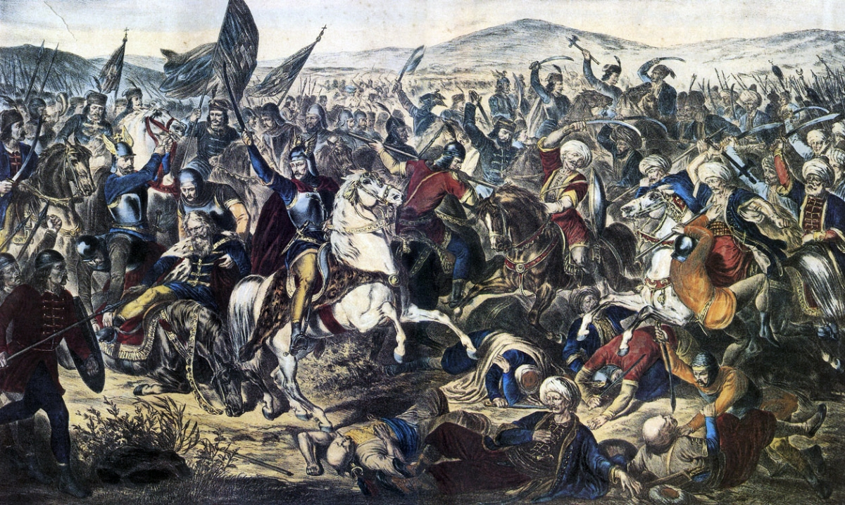 Historical paintings: Battle of Kosovo of 1389 by Adam Stefanović.