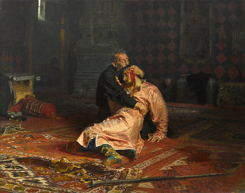 History Painting: Ivan the Terrible and His Son by Ilya Repin, 1885
